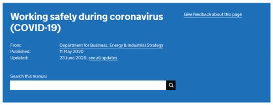 working safely during coronavirus